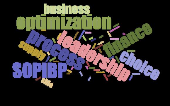 Optimization leadership word cloud