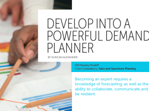 Article from Institute of Supply Magazine – Become a Demand Planning SME